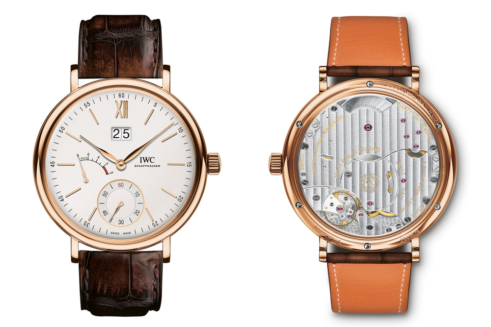 IWC Portofino Hand-Wound Big Date, Red Gold With Silver Dial