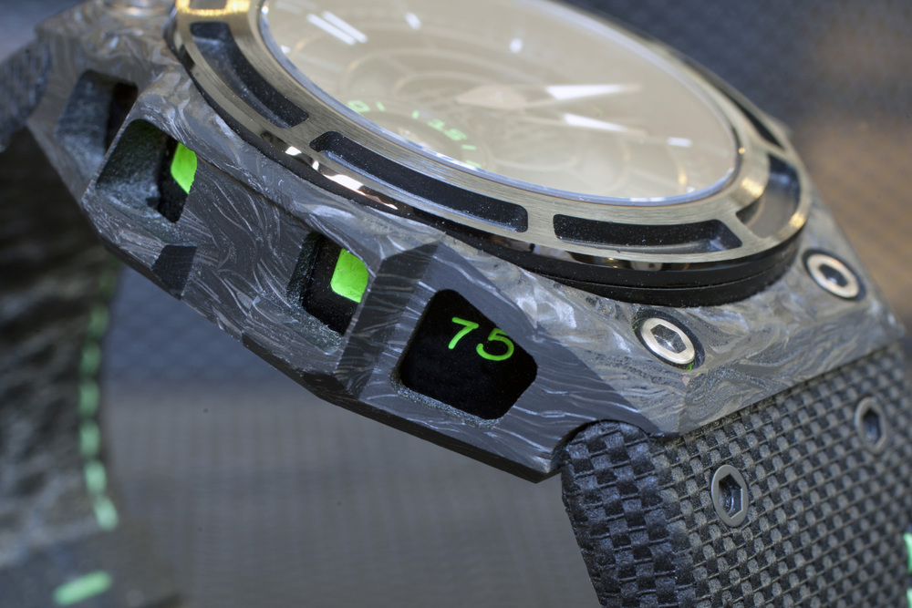 Carbon Outer Case, ALW Inner Case, Green Decoration