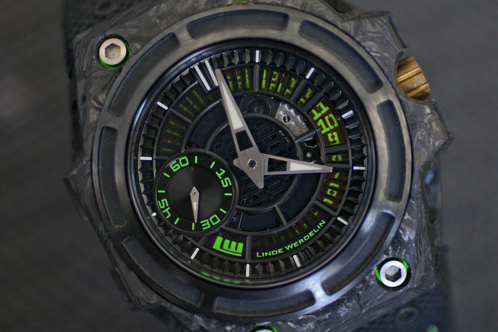 A Closer Look At The SpidoLite II Tech Green's Dial