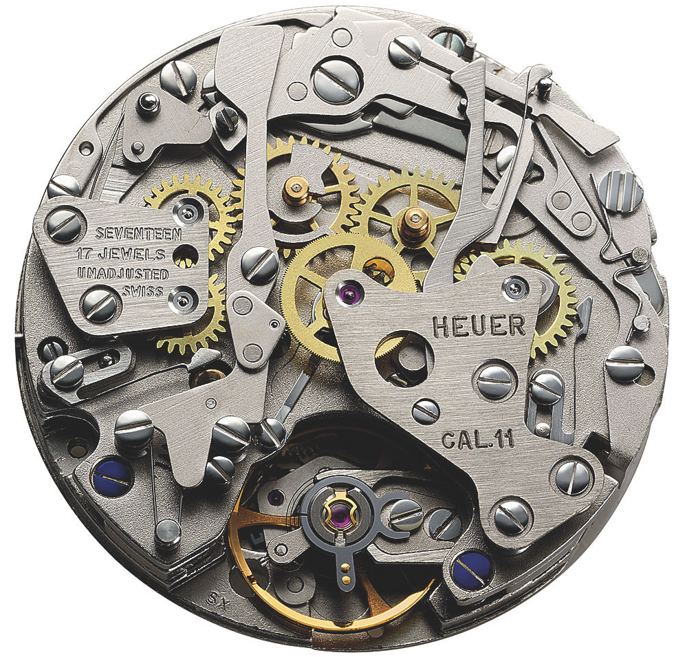 The original Caliber 11 movement, in all its raw, unfinished glory.