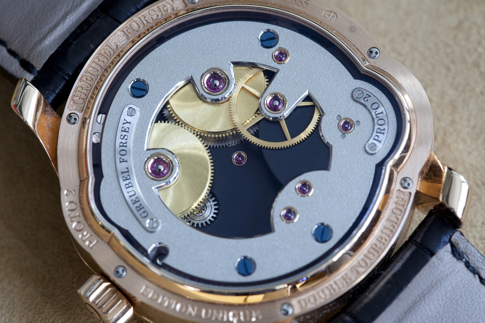 Greubel Forsey Movement In The Double Tourbillon Asymétrique