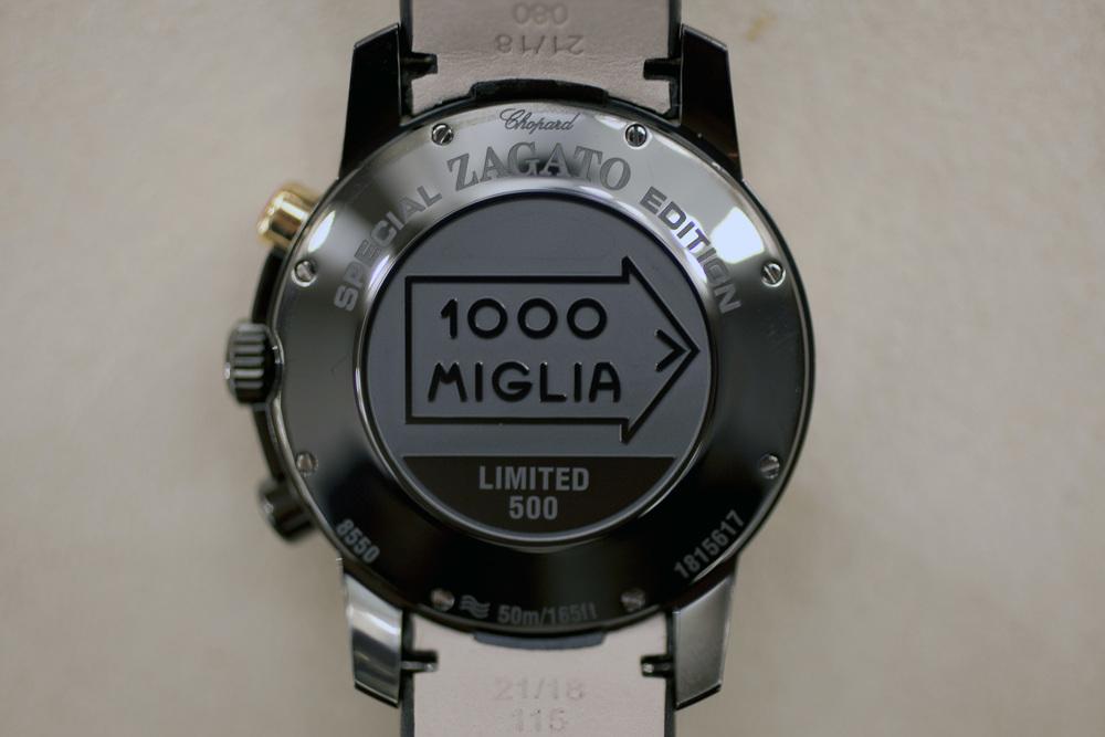 Mille Miglia Zagato Chronograph Caseback