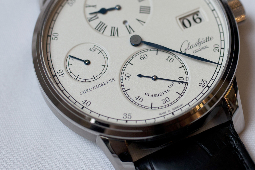 Closer Look At The Grained Silver Dial