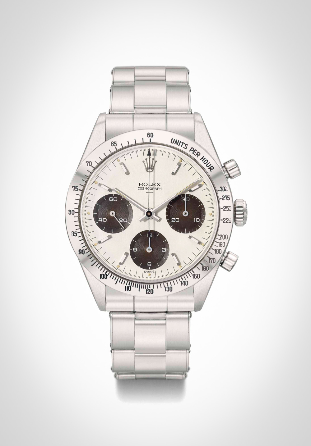The very rare reference 6239 double-swiss underline Daytona, from the first year of production only.
