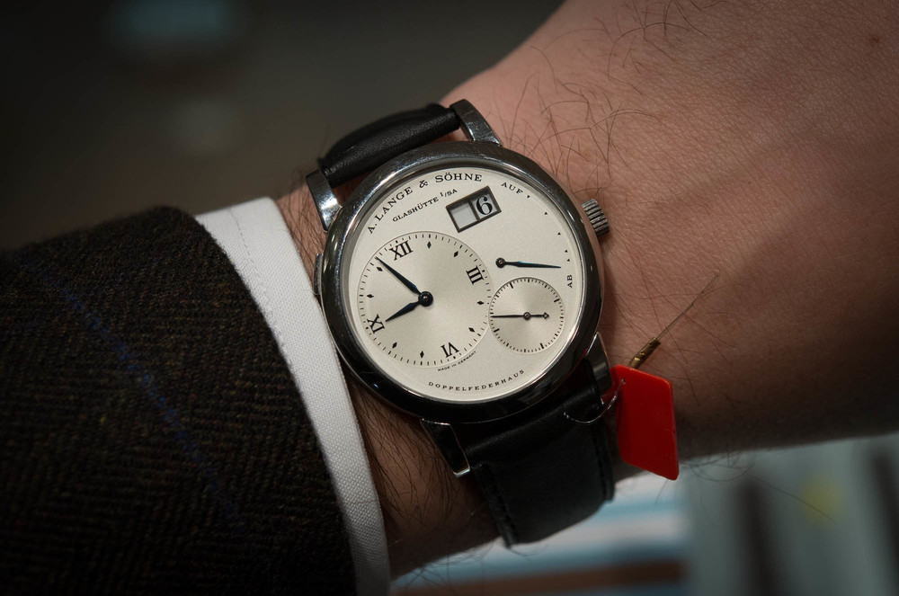 The stainless steel Lange 1 sold for over $154,000 last year.
