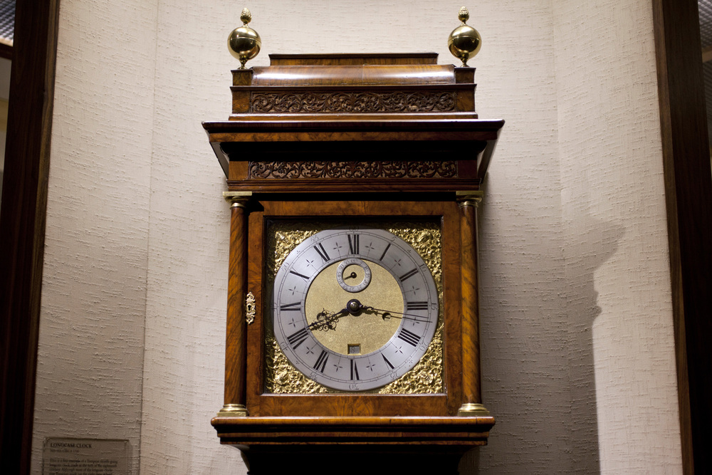 A Long Case Clock With Month-Going Movement