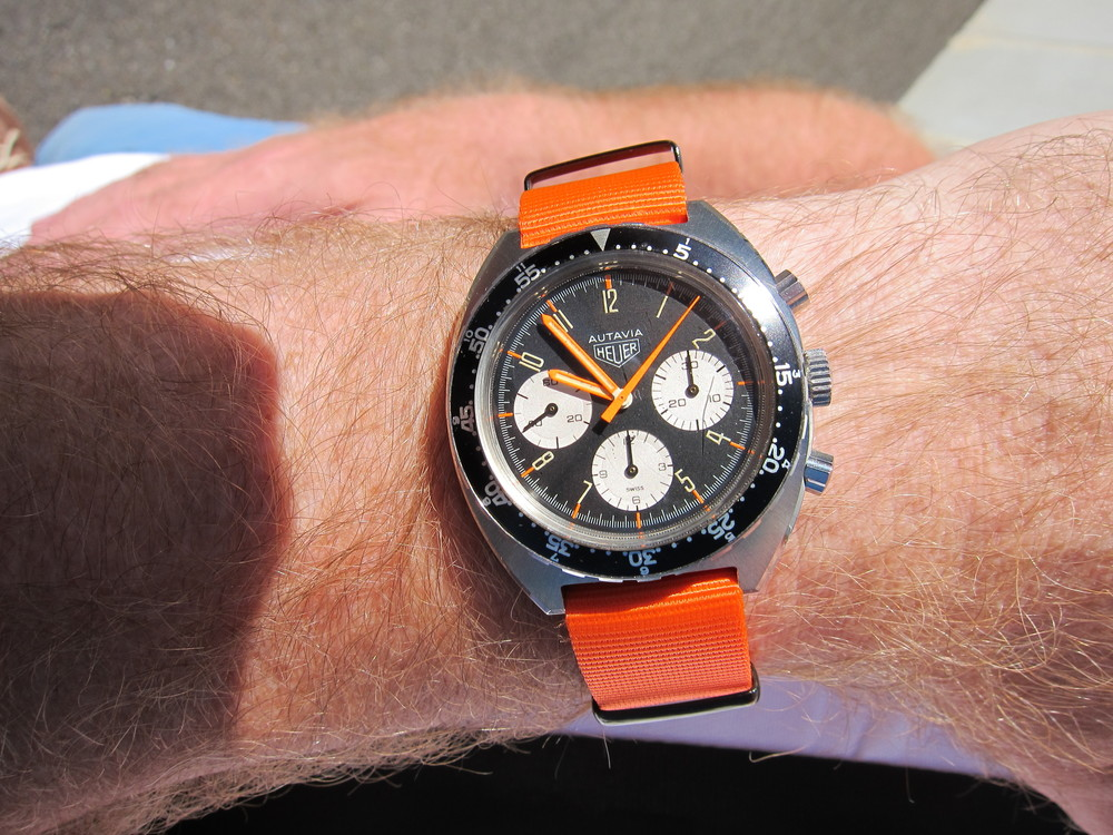 Autavia Orange Shauntavia Heuer Summit.JPG