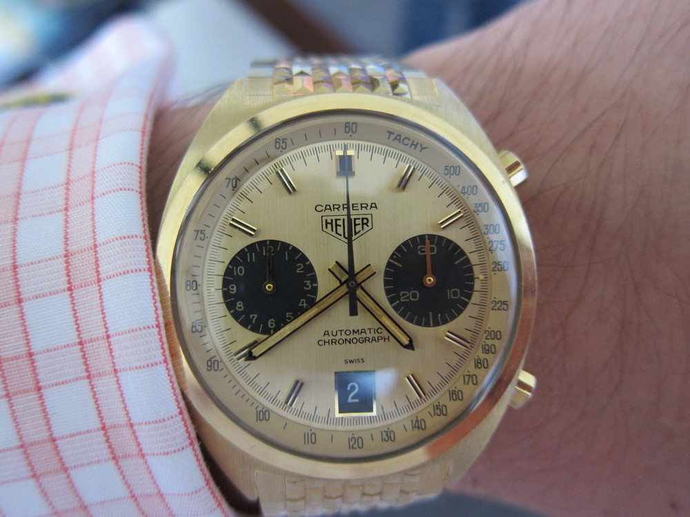 Carrera Gold on Bracelet Heuer Summit.JPG
