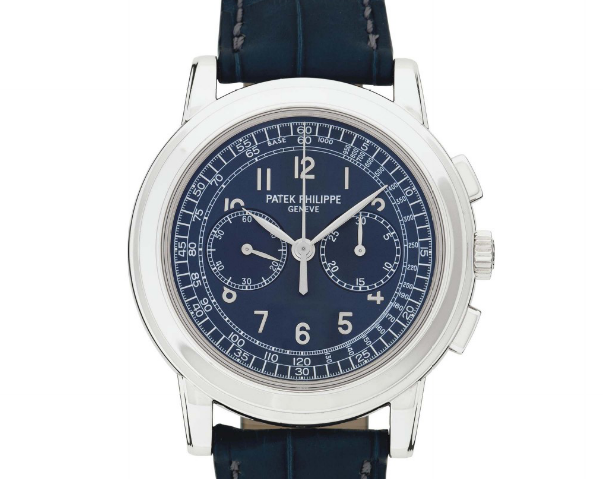 The Patek Philippe 5070P sold for 173,000 CHF at Christie's.