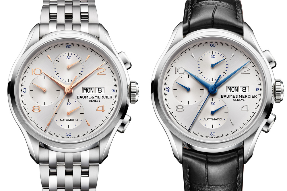 Two Dial Variations Of The Baume & Mercier Clifton Chronograph