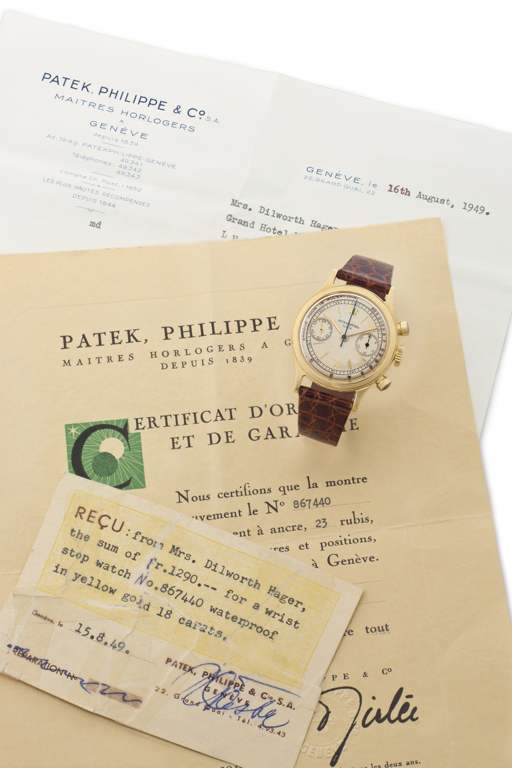 Patek Philippe Extract And Papers With This Historic Watch