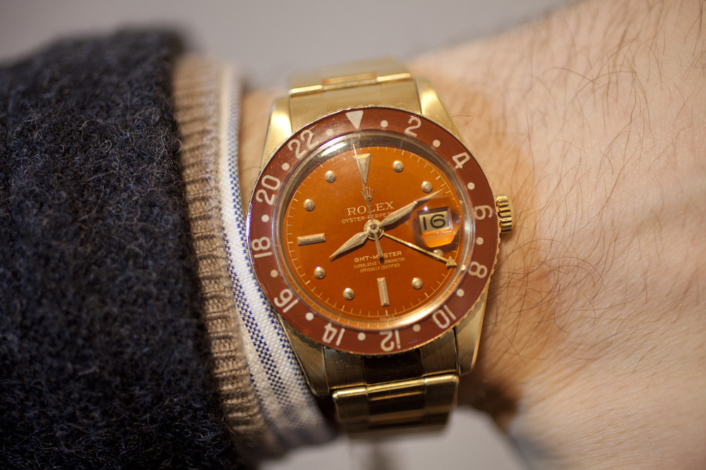 The Gold 6542 On the Wrist