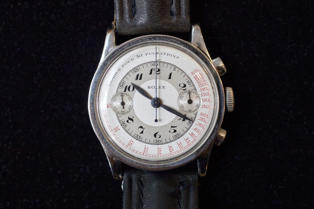 1930s Rolex Chronograph With Pulsation Scale