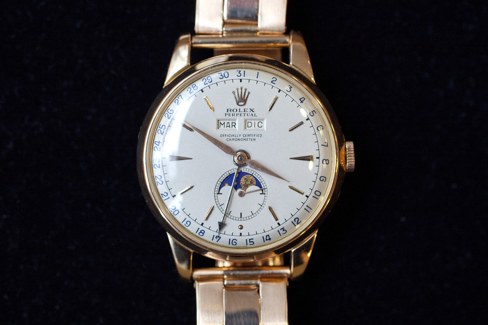 Pink Gold Rolex 8171 Padellone
