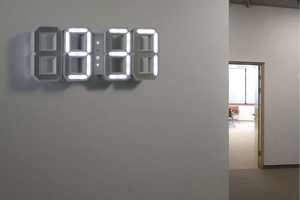 White & White Clock By Vadim Kibardin