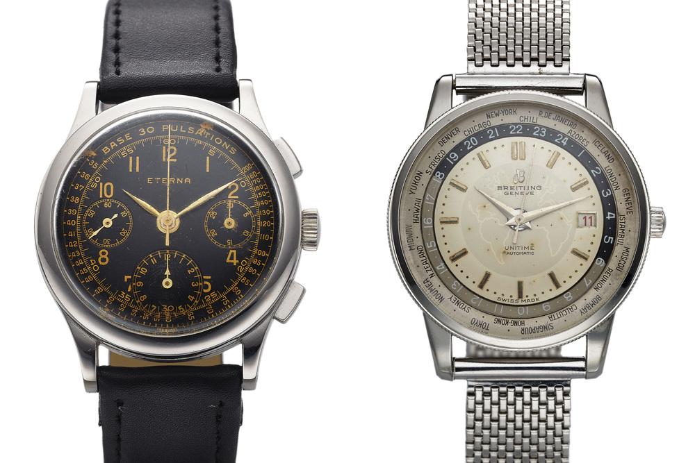 Eterna Chronograph and Breitling Unitime