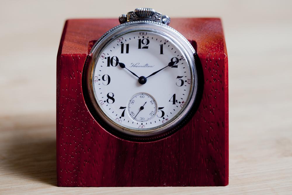 Hamilton Watch With Padauk Stand