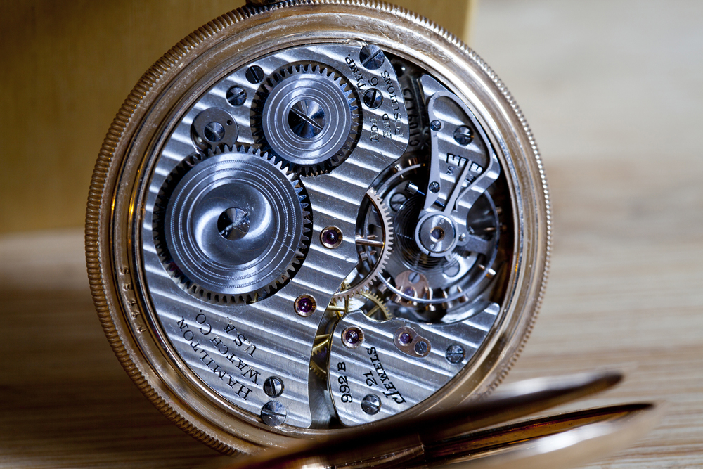 Inside A Hamilton Pocket Watch