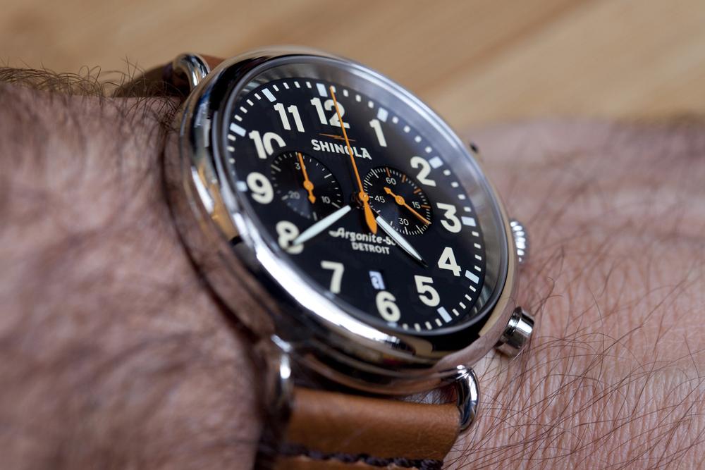 47mm Runwell Chrono on the wrist