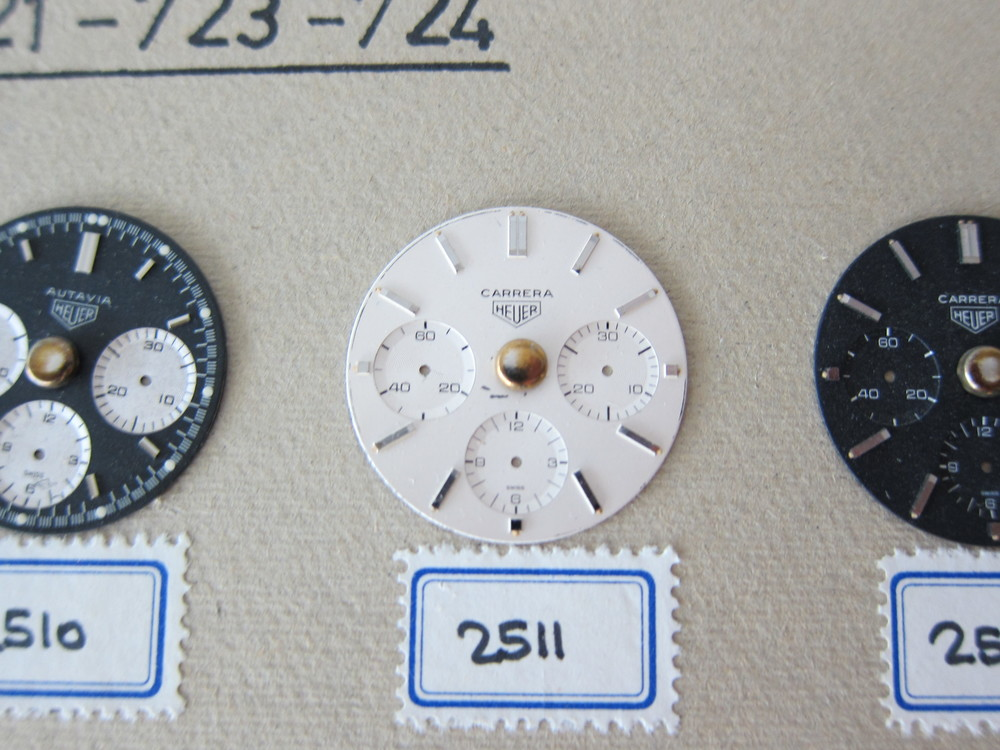 The earliest reference 2447 S Carrera dial in Heuer's archives
