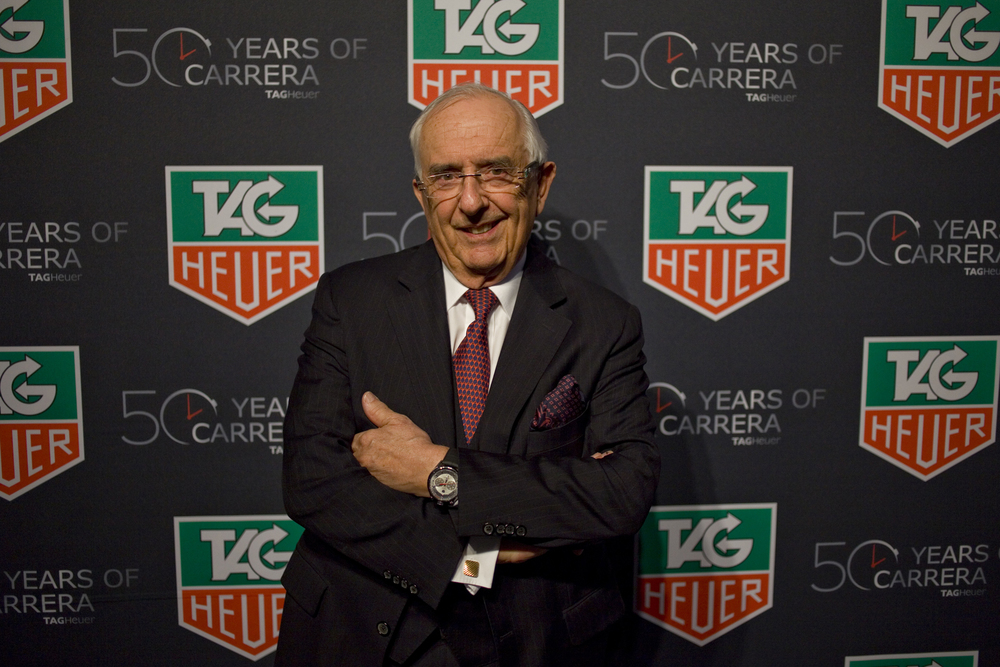 Jack Heuer At The 50th Anniversary Of The Carrera Celebration in New York City