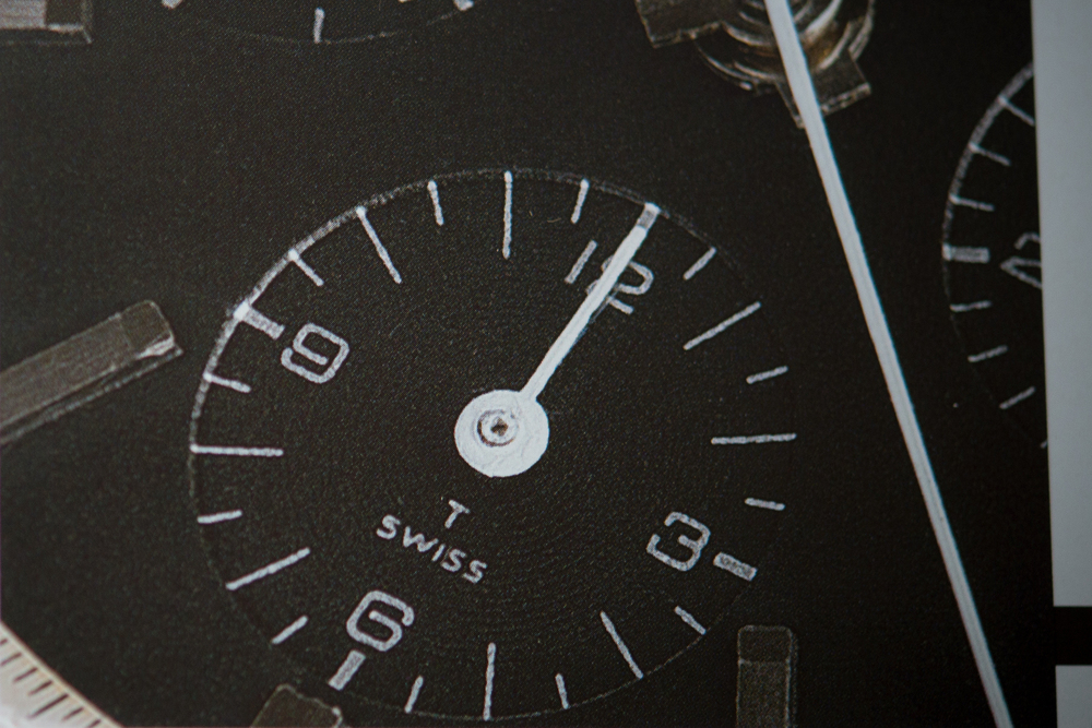 "Later, T-Swiss Dial, As Seen In Arno Haslinger's Book ""Heuer Chronographen"""