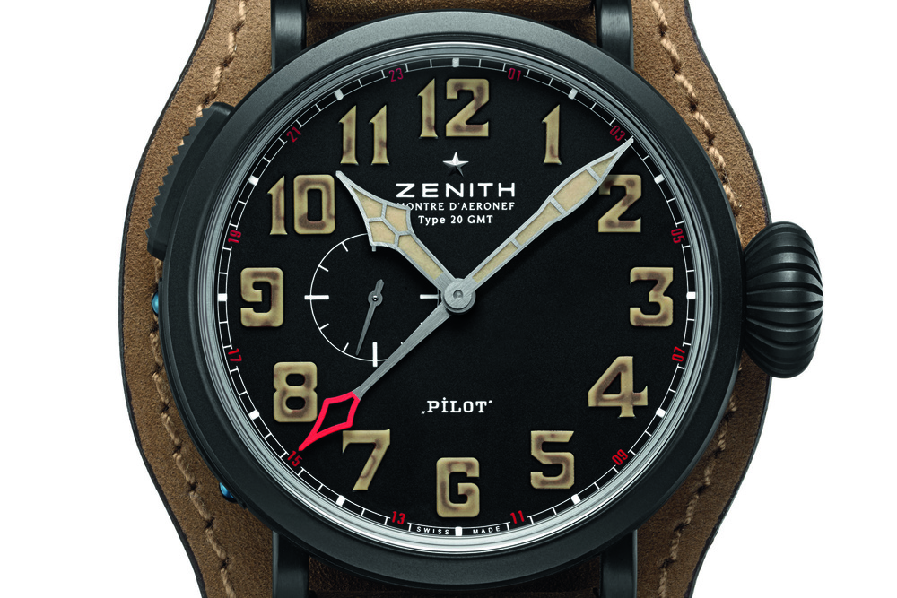 Closer Look At ThePilot Montre D'Aeronef Type 20 GMT 1903's Dial