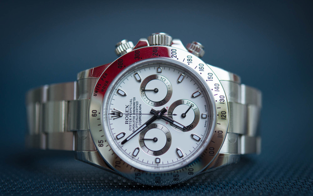 The Rolex Datyona, much less finish, but similar function, for about half the price