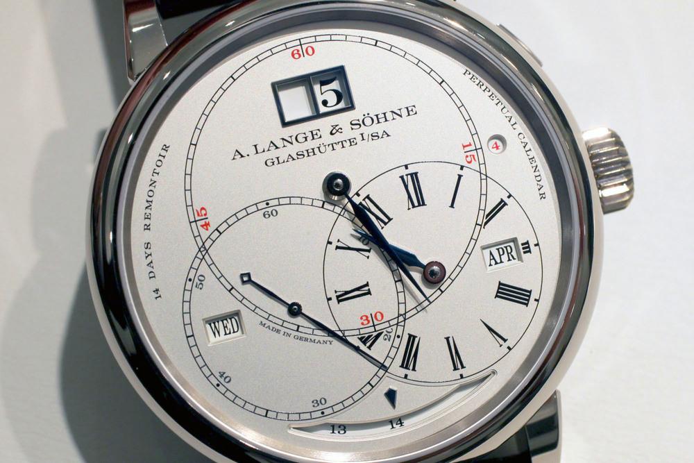 TheA. Lange & Söhne Richard Lange Perpetual Calendar Terraluna's Dial