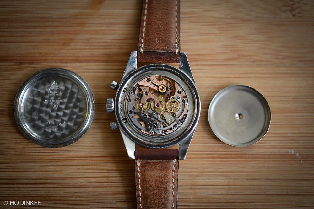 Caliber 321 Movement, with both outer caseback and magnetic protection back