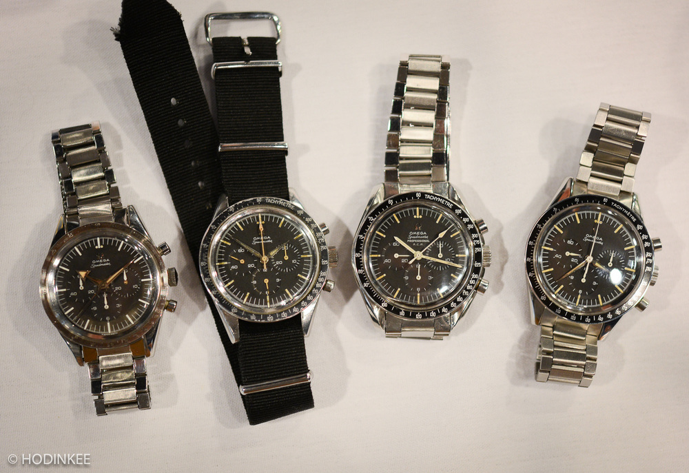A collection of early and rare Omega Speedmasters