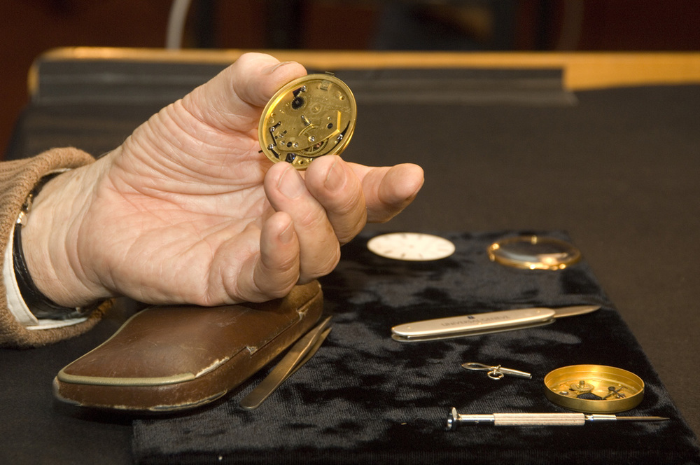 Photo from the Smithsonian. Note the Universal Geneve case opener on the right.