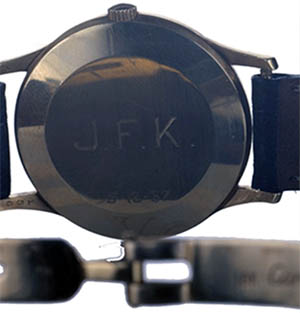 Photo from jfkcamelot.com. Note the numbers on the lug, which was a trademark for marking items sold by Cartier. It appears the numbers are 156.