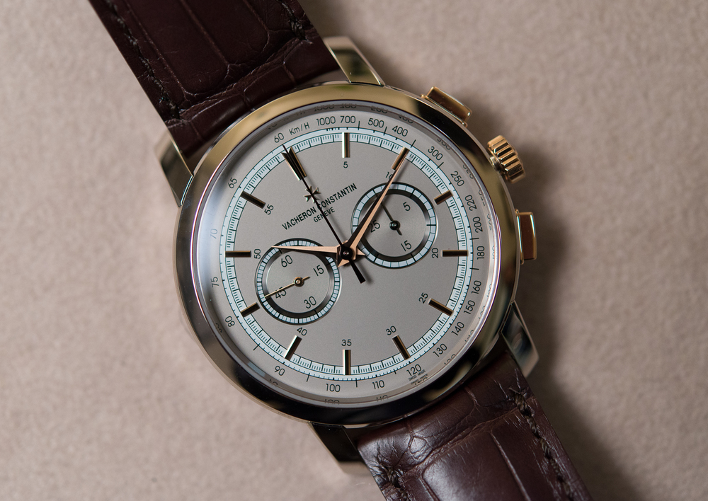 Boutique-only two-tone Patrimony Traditionnelle Chronograph