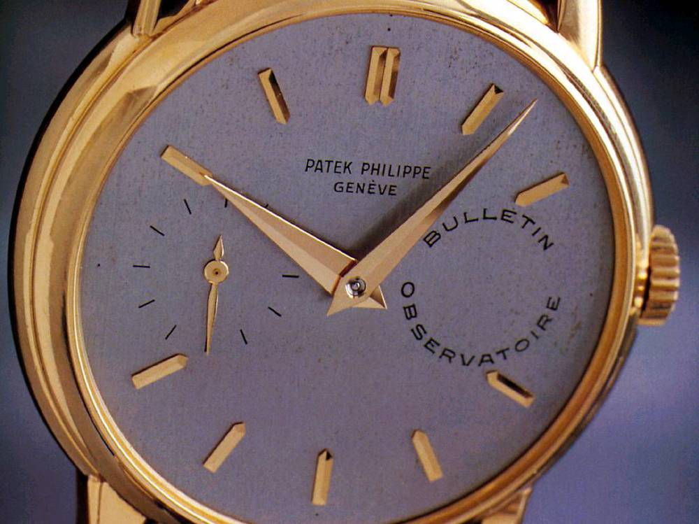The other Patek Philippe Observatory grade wristwatch, which is now in the Patek Philippe Museum. Photo from tp178.com.