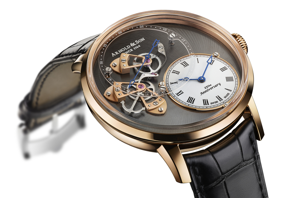The Arnold & Son DSTB is limited to 50 pieces in 18k red gold.