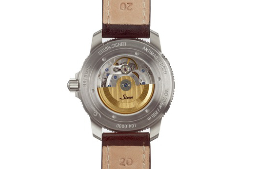 The case back is engraved with the watch's various capabilities from water-resistance to anti-magnetic properties.