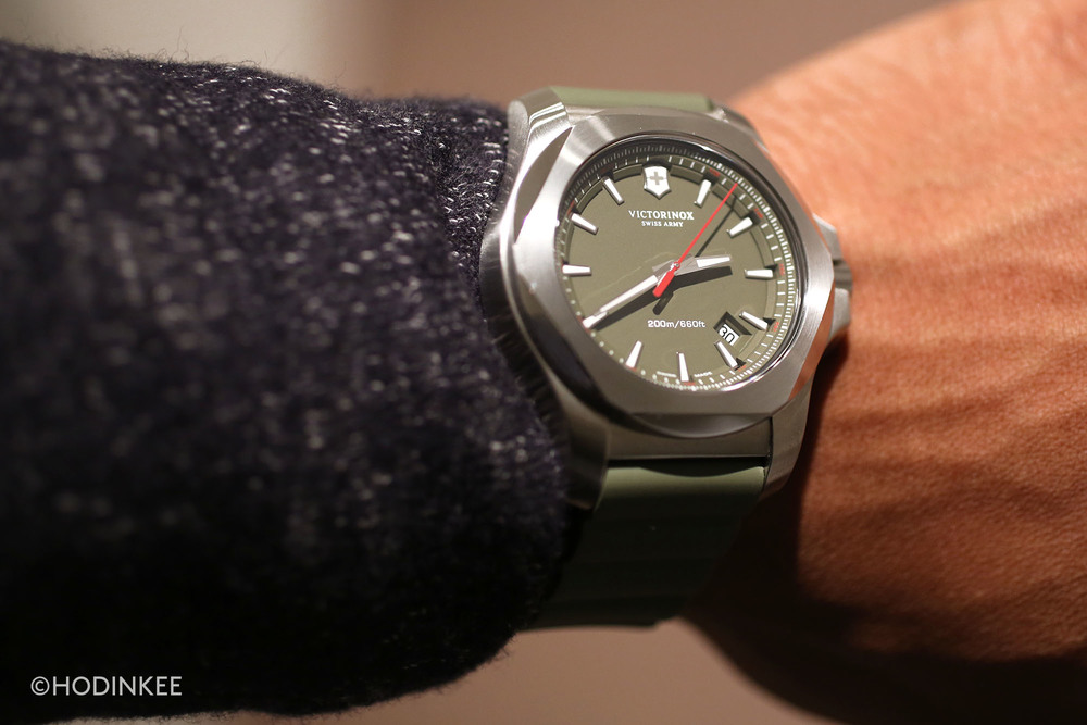 The 43mm case is large, but reasonable for a rugged sport watch.