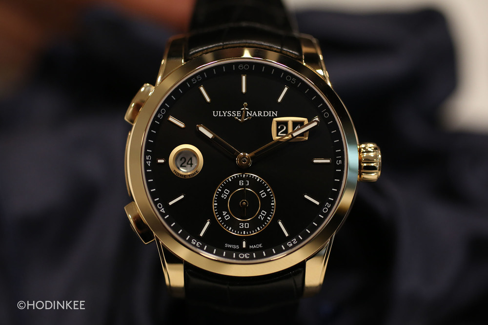 The Ulysse Nardin Dual Time Manufacture features a new in-house movement: Calibre UN-334.