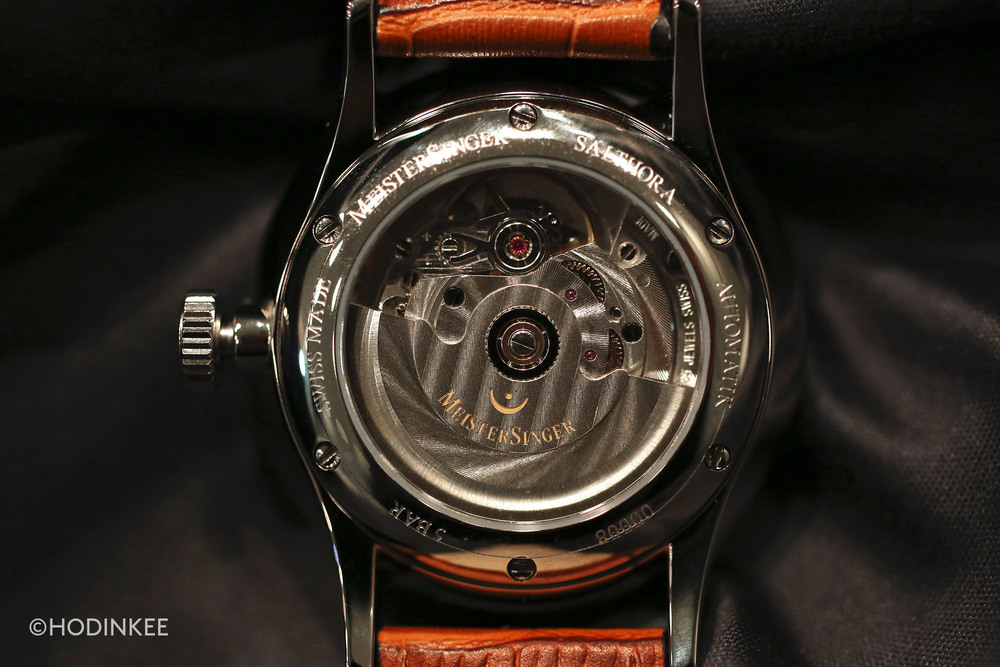 The Salthora uses a self-winding ETA 2824-2 movement with 38-hour power reserve.