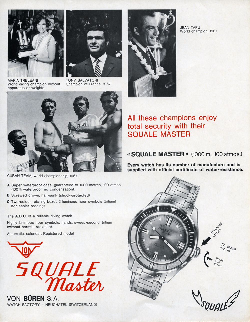An early Squale ad (image courtesy of Page and Cooper)