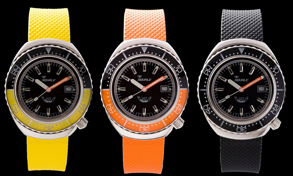 The Squale 101 ATM can be custom ordered in various color combinations