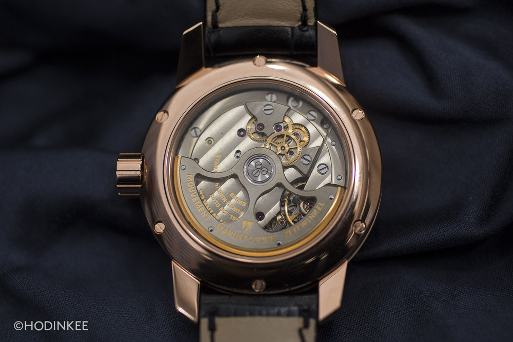 Hand-finished In-house Calibre ZW0103 is assembled in St-Imier, Switzerland.