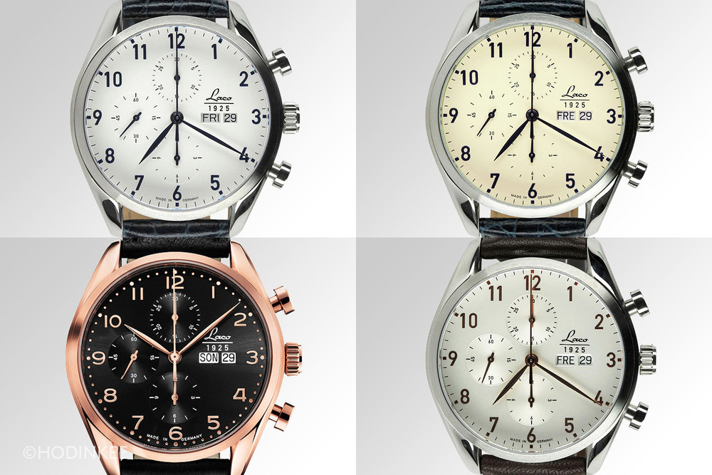 Among the broader range of Laco chronographs, 4 are dedicated to metropolitan cities.