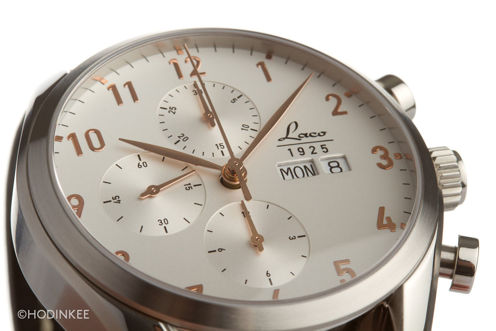 """At 44mm, the """"New York"""" is substantially sized, and could benefit from a slimmer case diameter and thickness."""