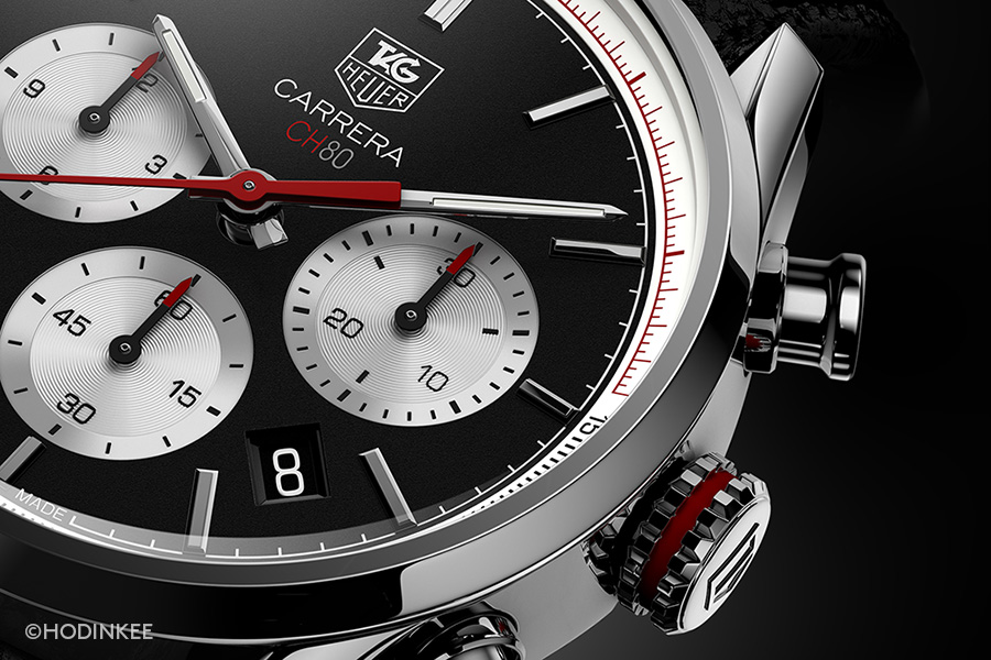 Red details abound on the new Carrera.