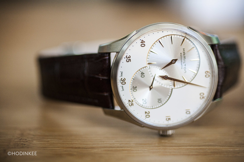 The large dial, required for the dial layout, contributes to greater visual heft relative to a moderately sized 42mm case.