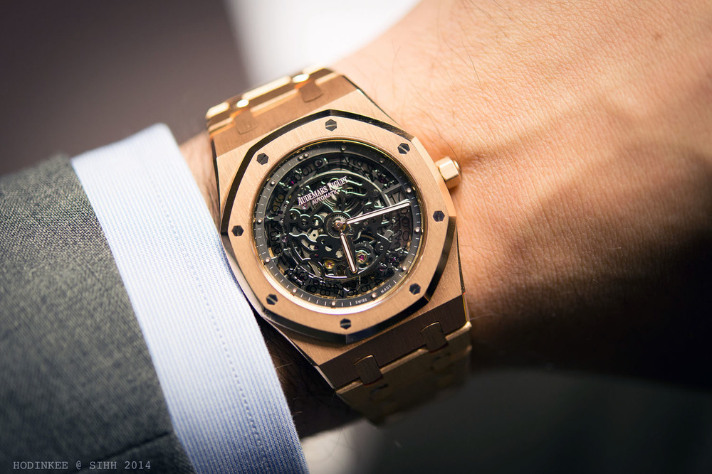 Audemars Piguet Royal Oak Openworked Extra-Thin In Rose Gold