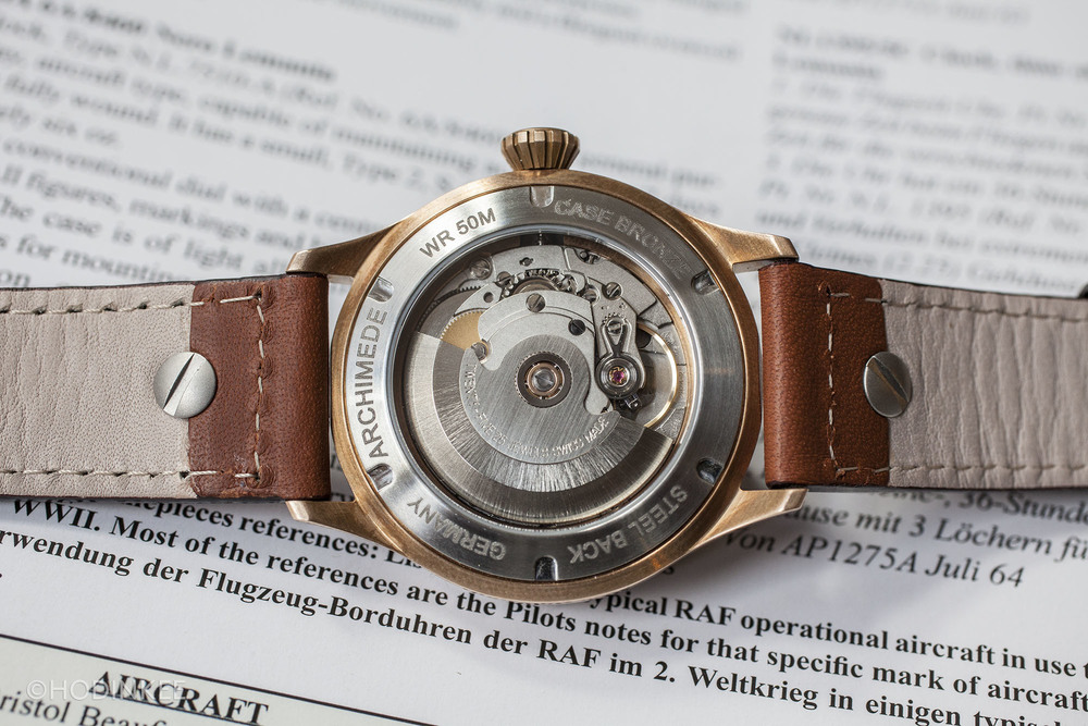 ETA 2824-2 is an automatic movement with 38-hour power reserve.