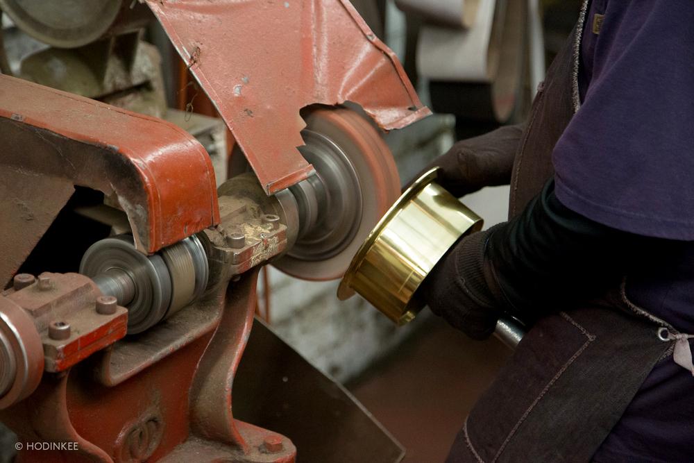 Polishing An Italian Brass Clock Case